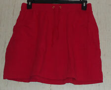 NEW  WOMENS SUSAN GRAVER PULL ON RED KNIT SKORT  SIZE M