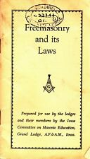 00023. Anon - 'Freemasonry and its Laws'  Grand Lodge Iowa [1920s]