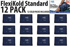"12 FlexiKold Gel Cold Packs Standard Size (10.5"" x 14.5"") - LOT OF 12 ICE PACKS"