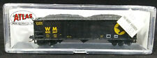 N Scale: ATLAS 90 TON Hopper Car. PENNSYLVANIA #669109  BLACK, 32902