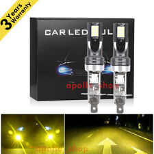 H1 LED Fog Light Conversion Bulbs Kit 350W 40000LM 3000K Yellow DRL Driving Lamp