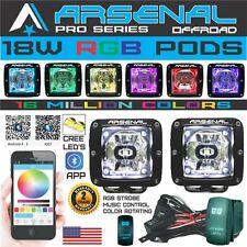 3x3 RGB PRO LED Pod Cube HALO Chasing Flash Strobe Color Changing Bluetooth APP