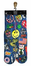 Odd Sox [parches/patch] socks caballero 39-46 Sugar Skull Peace cara sonriente EE. UU. Odd