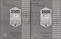 2001 Pontiac Aztek Shop Manual 2 Volume Set Early Repair Service Books OEM