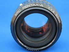 Pentax SMC A 50 mm f1.4 APC Manual Focus Prime Lens-Comme neuf-Perfect for k-1