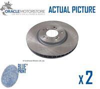 2 x NEW BLUE PRINT FRONT BRAKE DISCS SET BRAKING DISCS PAIR OE QUALITY ADH24359