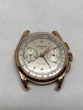 Lemania 105 Gold 750 18K Chronograph Cal.1275 Hand Gewunden Vintage
