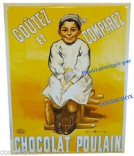 Plaque en métal CHOCOLAT POULAIN publicité ancienne pub camis stick advertising