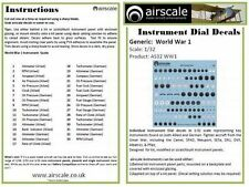 Airscale 1/48 World War I cockpit instrument decals AS48WW1