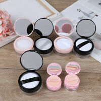 7 Style Empty Cosmetic Sifter Loose Jar Container Puff Box Mirror Container Case