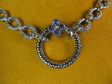 BARBARA BIXBY CIRCLE RING CONNECTOR FLOWER IOLITE NECKLACE CHAIN ACCESSORY Gift