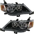 Headlight Set For 2007-2009 Mitsubishi Outlander Left and Right With Bulb 2Pc