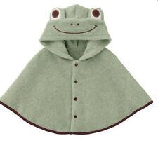 Baby Green Frog Boy Hooded Cloak Poncho Jacket Outwear Coat Costume 0-24Months
