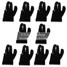 New Black Nylon Snooker Billiard Pool Cue Shooters 3 Fingers Gloves Accessories