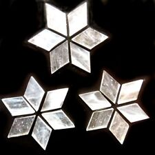 25mm Stained Glass Diamonds - Ice - 20g