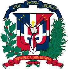 Auto Aufkleber Wappen Dominikanische Republik Coat of arms Car Sticker