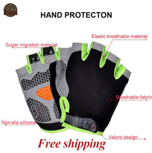 Half Finger Gloves Breathable Anti-shock Sports Gloves Cycling Gym Anti-slip New