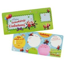 Kindergarten ~ 8 Stück Geburtstags-Einladungen Kindergeburtstag MARIENKÄFER