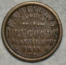VF 1863 Isaac B. Dangler Dry Goods Civil War Token, OH-535B-1a, R-4