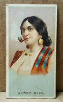 Vintage 1880s Allen & Ginter World's Smokers Gipsy Girl Tobacco Card