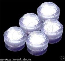 10 LED bianco tre SOMMERGIBILE cupola Luci Brillanti Festa Di Nozze Centrotavola