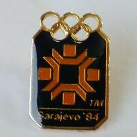 Sarajevo 84 Lapel Hat Jacket Pin Winter Olympics Rare Vintage