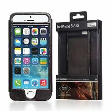 HANDCRAFTED ARMOUR DESIGN GENUINE LEATHER PROTECTIVE CASE COVER FOR IPHONE SE 5S