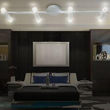 Decken Leuchte Wohn Zimmer Strahler Leiste Alu Balken Lampe Spots Glas satiniert