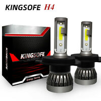 Kingsofe H4 LED Headlight Conversion Kit Bulbs 120W 26000LM High/Low Beam 6000K