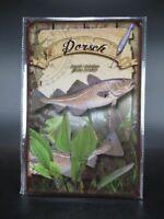 Blechschild Dorsch Fisch Angeln Angler Fischer Metall 30 cm,Metal Shield