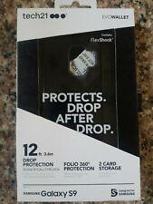 Tech 21 Evo Wallet Case Credit Cards Storage For Samsung Galaxy S9 Black Camo