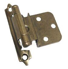 PAIR AMEROCK Steel 3/8 Offset Cabinet Hinge Burnished Antique Brass CM7128-BB