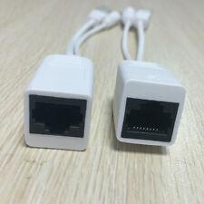 White Power Over Ethernet Passive POE Injector Splitter Cable Kit
