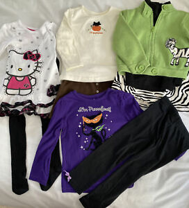 Mixed Lot Of Toddler Girls Outfits Size 3T Gymboree, Hello Kitty, Halloween.