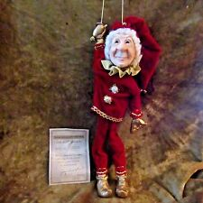 "Jacqueline Kent 'CHRISTMAS' Collection/TWINKLE TOES Ornament 15""/#342254/2003"