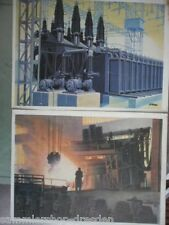 EL101 AEG  2 farbige Reklamepostkarten / 1. Dreiwicklungs.-Transformator 100 000