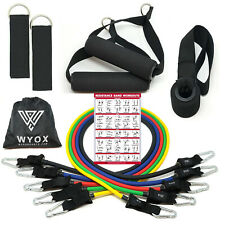WYOX 11 PCS Resistance Bands Set Home Gym Exercise Tube Bands Weight Training