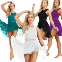 Women Ladies Lyrical Dress Contemporary Ballet Dance Costume Leotard Unitards