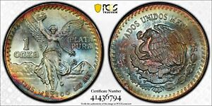 1985 Mo Mexico One (1) Onza PCGS MS 67 Libertad Silver, Witter Coin