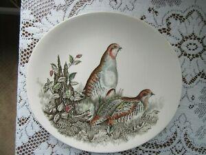 "Johnson Brothers GAME BIRDS 11"" Oval Dinner Plate / Platter  PARTRIDGE"