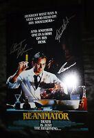 "RE-ANIMATOR Authentic Hand-Signed ""Charles Band +2"" 11x17 photo B (EXACT PROOF)"