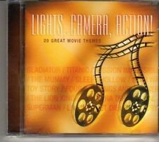 (CR860) Lights, Camera, Action - 20 Great Movie Themes - 2001 CD