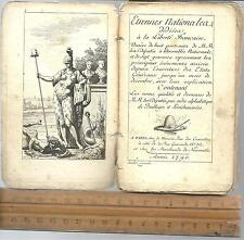ETRENNES NATIONALES 1790 French Revolution 12Mo 60 Pages ILLUSTRATED RARE OLD