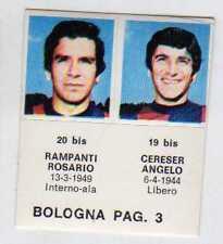 FIGURINA GOAL CREMA 1976/77-BOLOGNA-PAG 3-RAMPANTI 20 bis-CERESER 19 bis