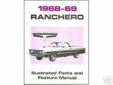1968  1969   FORD  RANCHERO FACTS & FEATURE  MANUAL