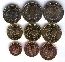 manueduc   ESPAÑA 2010  Las 9  Monedas con 2 Euros Conmemorativa , Sin Circular