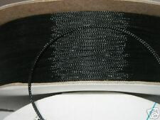 1/8 BRAIDED EXPANDABLE  SLEEVING  PET loom  100ft BLACK
