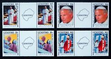 More details for lesotho 1988 pope john sg819/22 in scarce gutter pairs see below u/m nl940