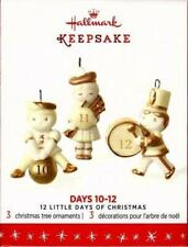 "12 Little Days Of Christmas Series ""Days 10-11-12"" (3) Hallmark Ornaments New"