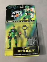 Kenner Batman Forever The Riddler with Trapping Brain Drain Helmet 1995 Vintage
